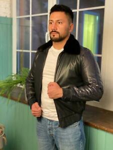 Authentic-100-STEFANO-RICCI-Leather-Coat-Italy-Black-Men-Outerwear-Original-NEW
