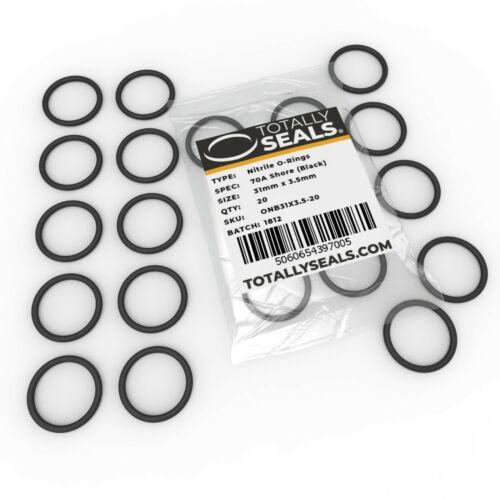 30x3.5 Nitrile O-rings 37mm OD 30mm Inner Diameter x 3.5mm Cross Section
