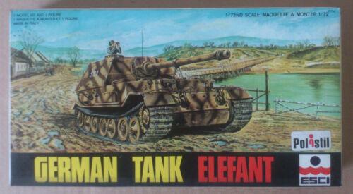 ESCI POLISTIL 1//72  8006  ** GERMAN TANK ELEFANT **  NEUF FONDS DE STOCK!