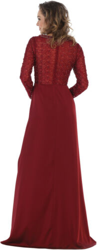 FORMAL PLUS SIZE SPECIAL OCCASION DRESSES MOTHER OF THE BRIDE LONG SLEEVE GOWNS