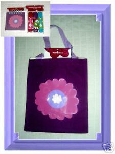 Purple book tote bag bytarget w pink flowerfree items ebay image is loading purple book tote bag bytarget w pink flower mightylinksfo