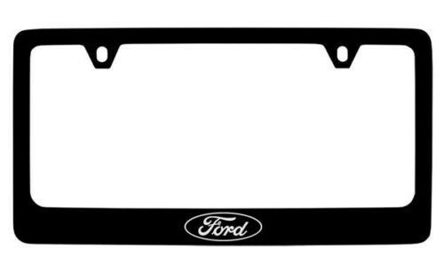 Ford Logo Black Metal License Plate Frame