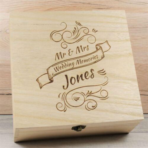 Engraved Wooden Wedding Keepsake Box Wedding Anniversary Keepsakes Wooden Boxes
