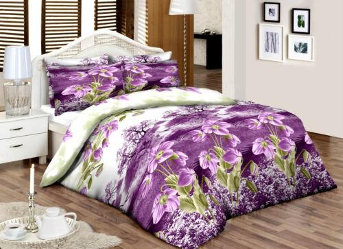 Lilacgreenfloral /_/_ Rey /_/_ 100/% Algodón Top Percal Calidad Impresas duvet cover set