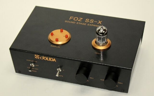 Jolida Black Ice Audio FOZ SS-X sound stage expander, NEW- black- dealer