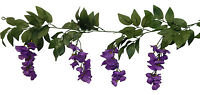 Wisteria Garland Purple Silk Wedding Flowers Arch Gazebo Decorations