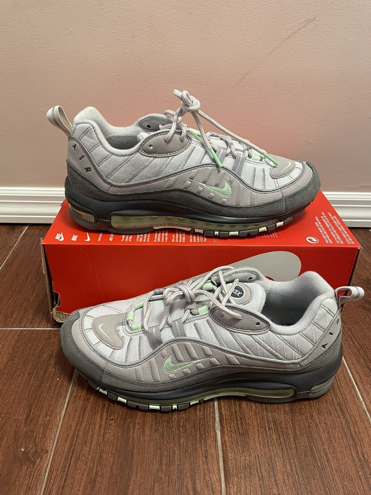 Size 8.5 - Nike Air Max 98 Vast Grey Mint for sale online   eBay