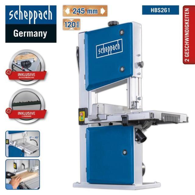 Scheppach Sega a Nastro Hbs261 Incl. 2 per fino 245mm Larghezza/120mm Altezza