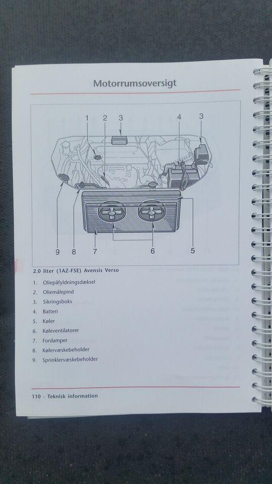 Instruktionsbøger, Toyota Avensis, T22 og Verso