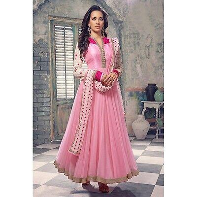 Party Wear Pink Anarkali Suit - EBSFSK245021