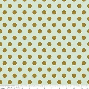 On-Trend-Large-Spot-Mint-Riley-Blake-Fabric-FQ-50cm-X-55cm-More-100-Cotton