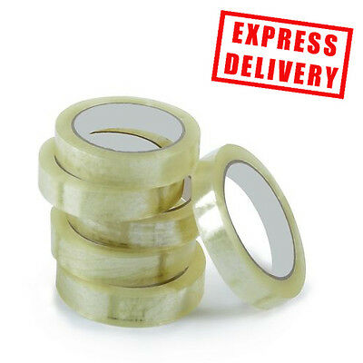 Clear Strong Tape Packaging Rolls Parcel Packing Sellotape 24mm x50m Celotape UK