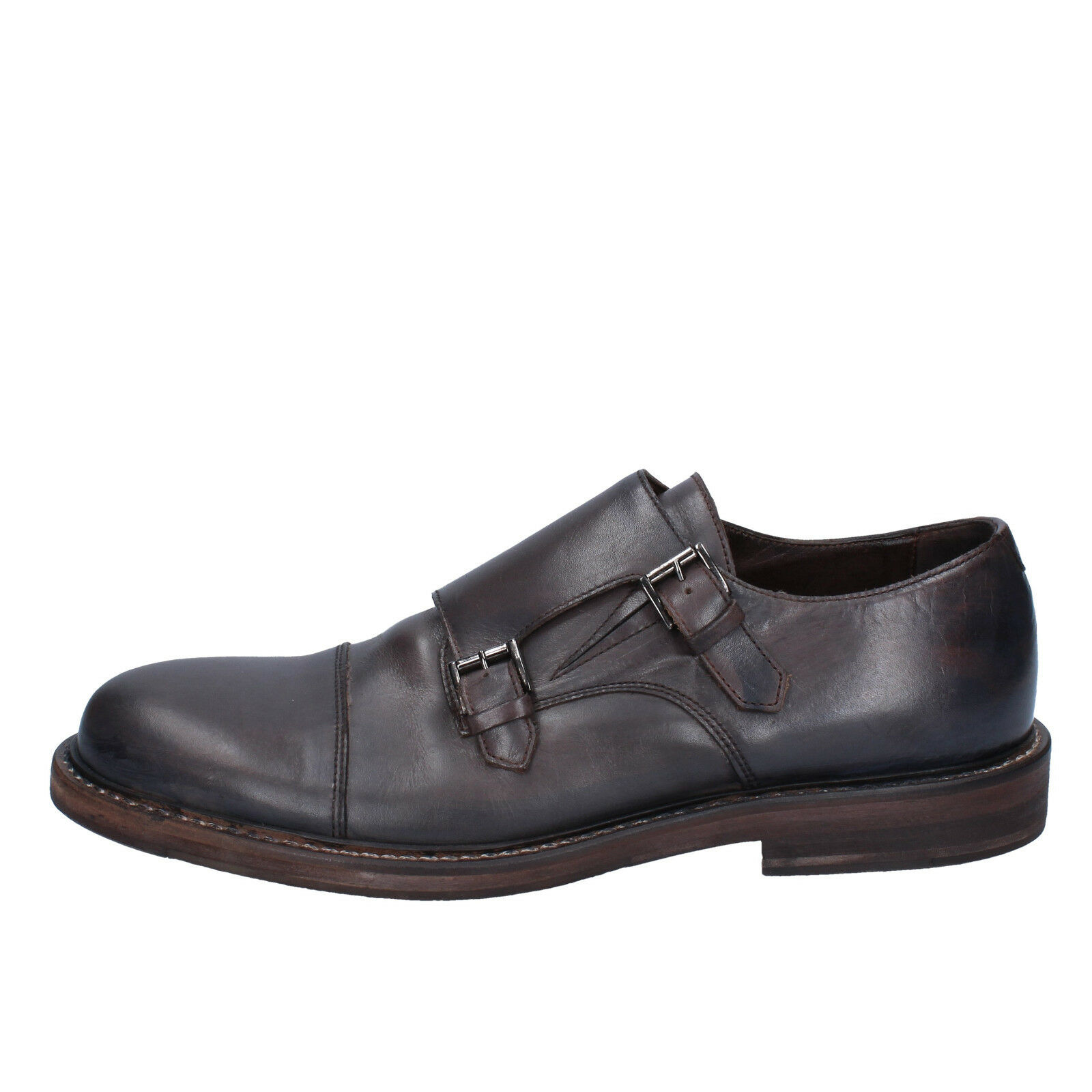 men's shoes ROBERTO BOTTICELLI 8 () elegant dark brown leather BY584-41