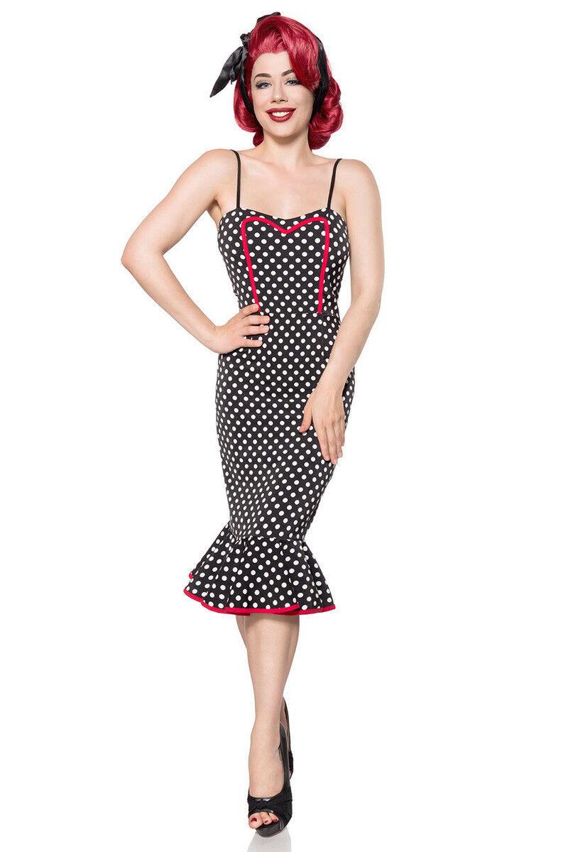 Belsira Damen Kleid Bleistift schwarz weiß 34 36 38 40 42 44 46 Rockabilly Retro