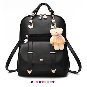 2017 Women leather backpacks travel bag school bags backpack ...