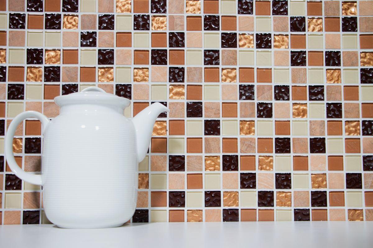 Bordure CARREAU MARRON MARBRE mosaïque pierres naturelles Matchstick 4x30cm Bain Douche Cuisine