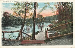 Postcard-White-River-at-Mounds-Park-Anderson-Indiana