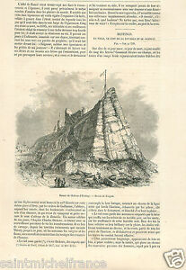 Ruine-Hastings-Castle-Ruins-Chateau-Sussex-United-Kingdom-GRAVURE-OLD-PRINT-1856