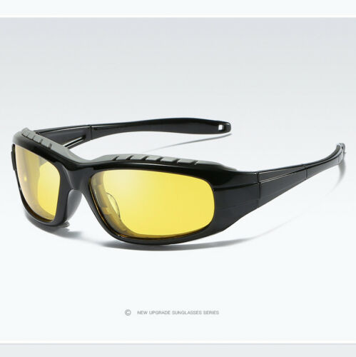 New Wrap Around Polarized Sunglasses Mens Outdoor Sport Cycling Bike Goggles