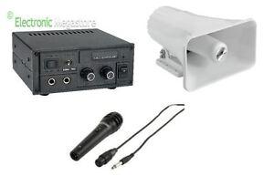 Kit Audio Per Propaganda Tromba Microfono Amplificatore Funziona A 12v Sa15kit Musical Instruments & Gear