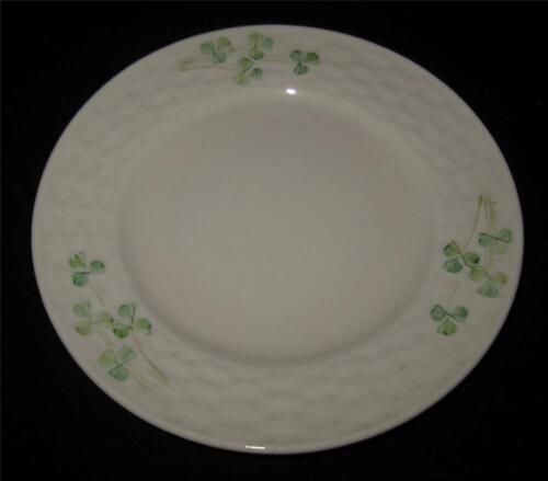 """Belleek SHAMROCK Bread Plate 7 1//4/"""" Across 1980-92 7th Gold Mark"""