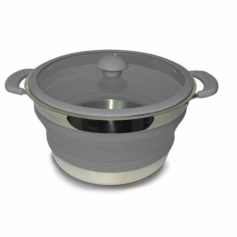 Kampa Folding Saucepan 3.0 Litre Grey