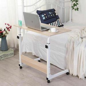 Height Adjustable Laptop Table Computer Desk Sofa Bed Stand Rolling Workstation