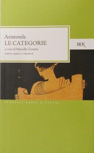 Aristotele - Le categorie. Testo greco a fronte A1