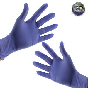 Nitrile Gloves Medical Dental Tattoo Microblading Disposable Cover