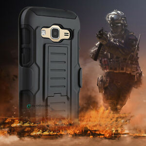 Shockproof Hybrid Rugged Rubber Armor Holster Belt Clip Case Cover for Cellphone