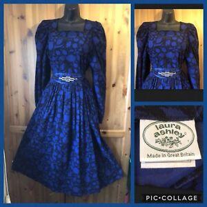 Vintage-LAURA-ASHLEY-Rare-Corduroy-Victorian-Edwardian-Style-Dress-UK-12