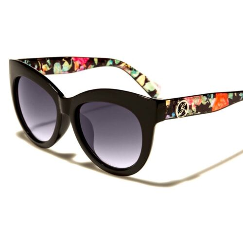 Vintage Style Elegant Womens Stylish Floral Pattern Designer Cat Eye Sunglasses