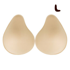 US 1 Pairs Soft Bra Pads Inserts Removable Push Up Breast Enhancer for Underwear