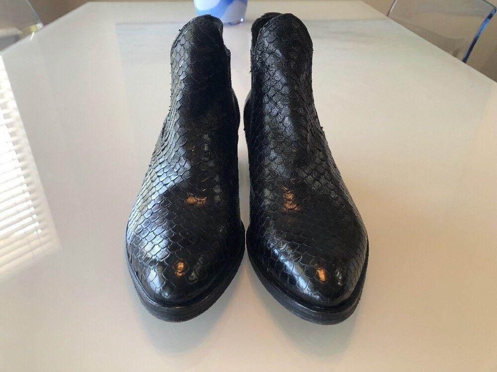 Nuevo  239 KBR lo 2010 Negro Con Textura Textura Textura Pitón Western Chelsea bota, Talla EU-35 US 5 M 2809cf