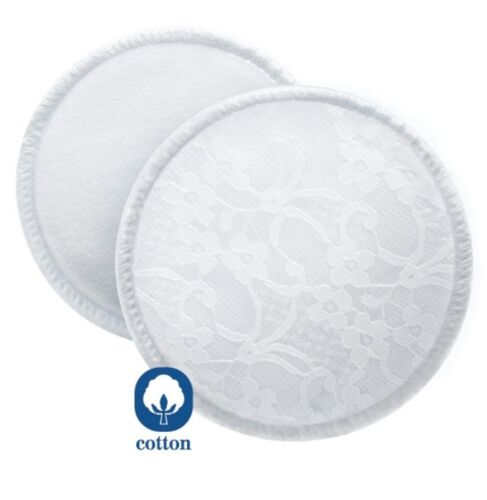 PHILIPS AVENT WASHABLE BREAST PADS NURSING COTTON BRA PADS X6 SCF155//06