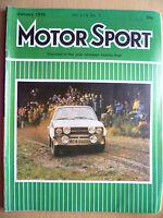 MOTOR SPORT MAGAZINE- JANUARY 1978, Vol. LIV, No.1