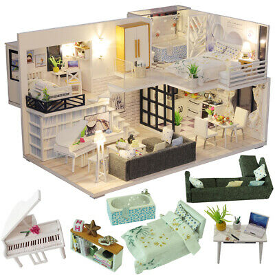 LOL SURPRISE Wooden Dolls House DIY Miniature Doll House Furniture included  New  eBay