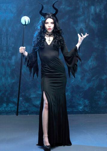 Ladies Slinky Evil Queen Maleficent Style Costume