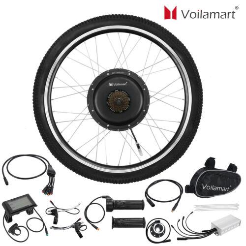"Waterproof 48V 1000W Electric Bicycle Conversion Kit 26/"" Rear Wheel LCD Meter"