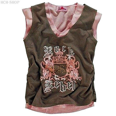 Imparziale Estate Trägertop Marchi-top Lagen-look 2 In 1 Shirt Tg. 32 34 36 38/40 Marrone/rosa-a It-it Mostra Il Titolo Originale