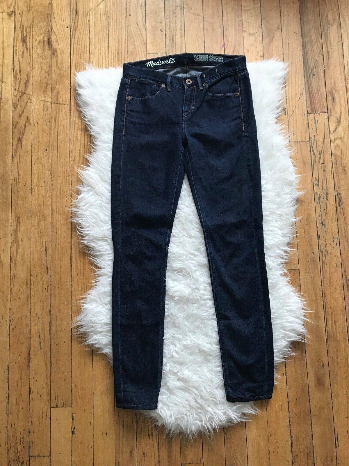 Madewell J.Crew 20.3cm Mid-Rise Skinny Hautenge Jeans  Dunkelblau Wash 25 X29