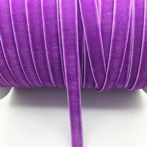 New-DIY-5-yards-3-8-034-10mm-Velvet-Ribbon-Headband-Clips-Bow-Decoration-NO23