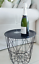Round Black Geometric Wire Metal Tray Lamp Coffee End Side Table Basket