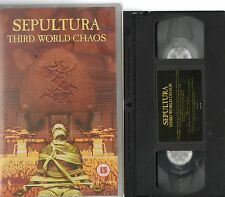 SEPULTURA THIRD WORLD CHAOS  CERT 15 VHS VIDEO