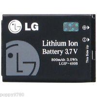 New LG LGIP-410B Original OEM 800mAh 3.7V Li-Ion SBPL0085608 Cell Phone Battery