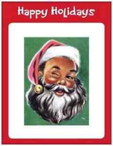 20-African-American-SANTA-CHRISTMAS-5-5X4-POSTCARDS-Holiday-Greeting