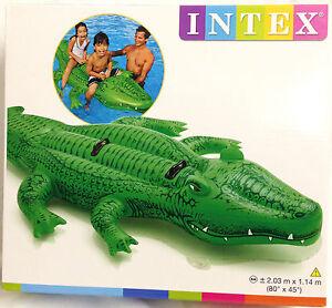 Intex Inflatable Gator Crocodile Pool Float Ride On