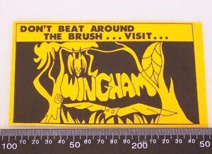 RARE-VINTAGE-DON-039-T-BEAT-AROUND-THE-BUSH-WINGHAM-AUSTRALIA-SOUVENIR-PROMO-STICKER