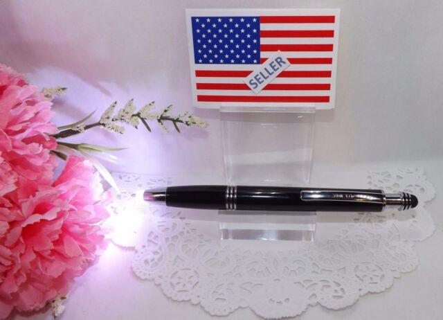 3 in 1 Rex Blue Ball Point Pen By Adler LED Light Stylus Textured Barrel