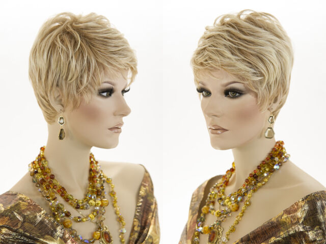 Sexy Salon Cut Pixie Style Short Lace Front Blonde Brunette Red Straight Wigs